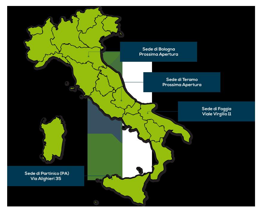 le sedi di Misurlab Srl in Italia